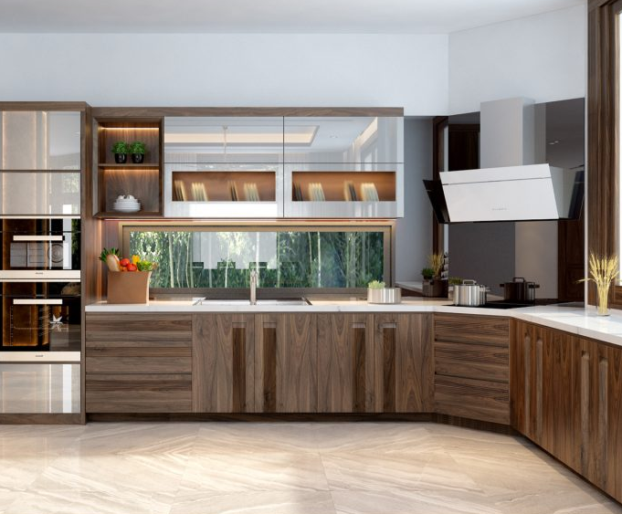 Màu sắc mẫu mã đa dạng của tủ bếp gỗ công nghiệp nên được nhiều khách hàng lựa chọn