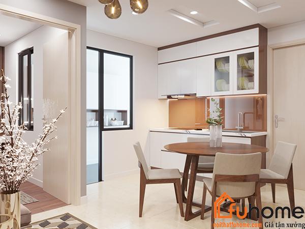 Thiết kế bếp chung cư phù hợp với tổng thể toàn căn hộ