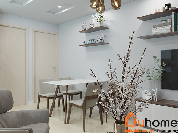 thiết kế nội thất căn hộ chung cư 90m2