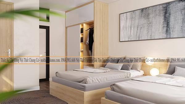 Tủ quần áo gỗ công nghiệp giúp căn phòng của bạn nổi bật hơn