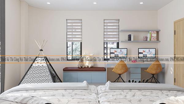 Thiết kế bàn làm việc cho căn hộ chung cư 1