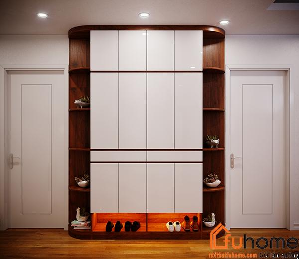 Gỗ công nghiệp Acrylic được ứng dụng trong thiết kế tủ quần áo