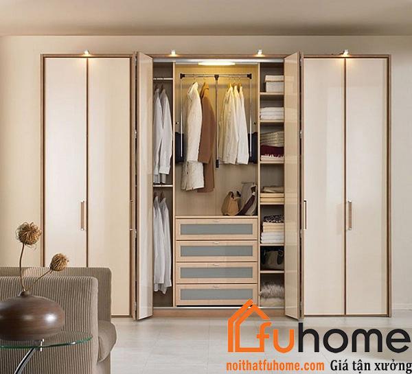 Chi phí sử dụng tủ quần áo gỗ công nghiệp cũng tiết kiệm hơn so với gỗ tự nhiên