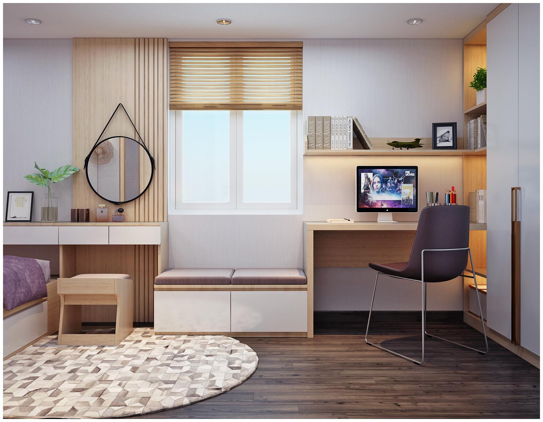 Thiết kế bàn làm việc cho căn hộ chung cư theo phong cách khác biệt
