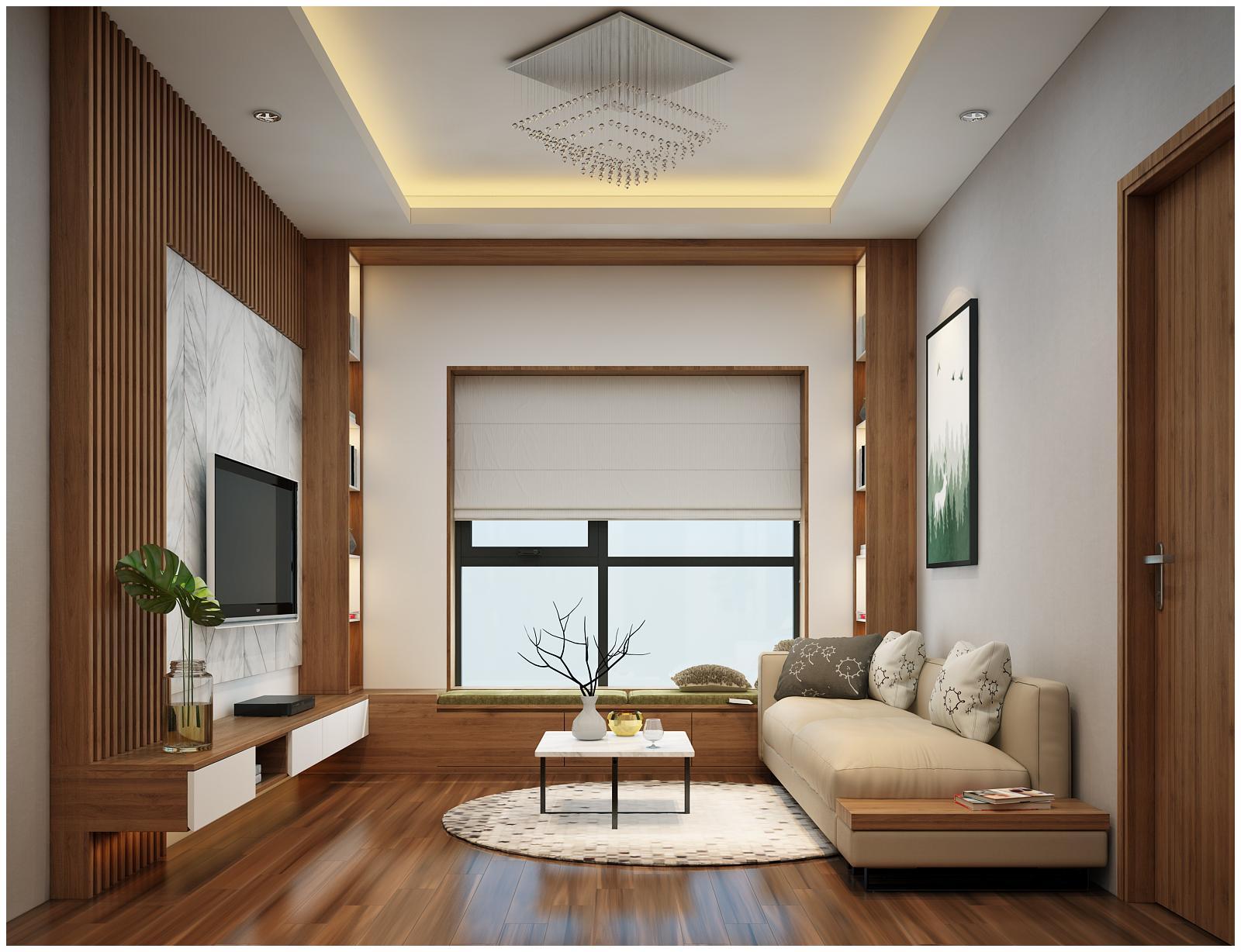 Tận dụng tối đa không gian khi thiết kế nội thất chung cư 65m2