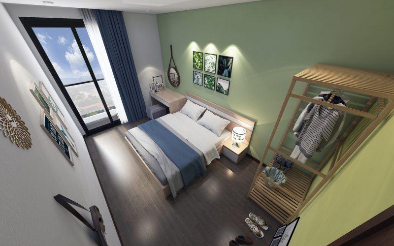 thiết kế nội thất phòng ngủ chung cư nhỏ