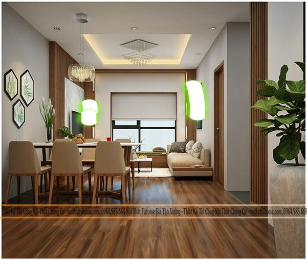 Khi thiết kế nội thất căn hộ chung cư giá rẻ cần chú ý đến việc phối kết hợp màu sắc