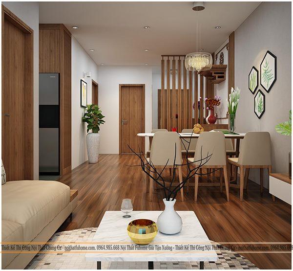 Thiết kế nội thất phòng khách liền bếp giúp tối ưu hóa không gian trong căn nhà của bạn