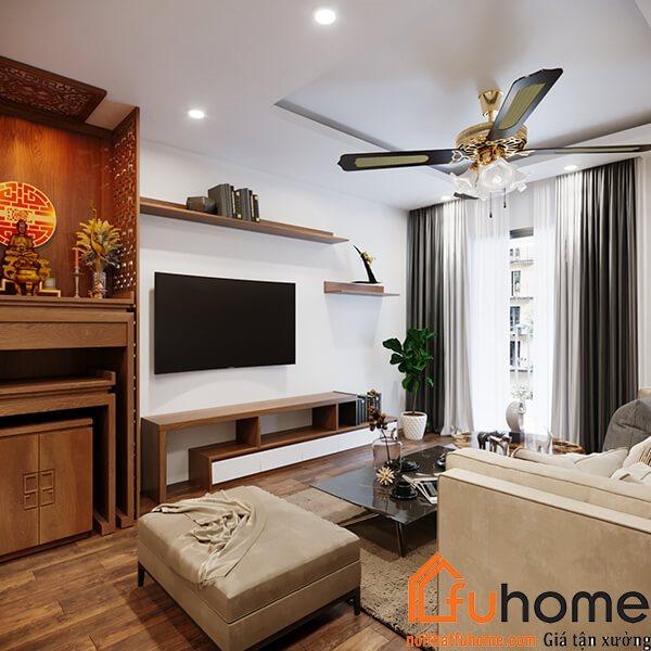 Phong cách thiết kế nội thất chung cư 65m2 cổ điển