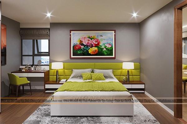 Thiết kế nội thất phòng ngủ ho căn hộ chung cư 100m2