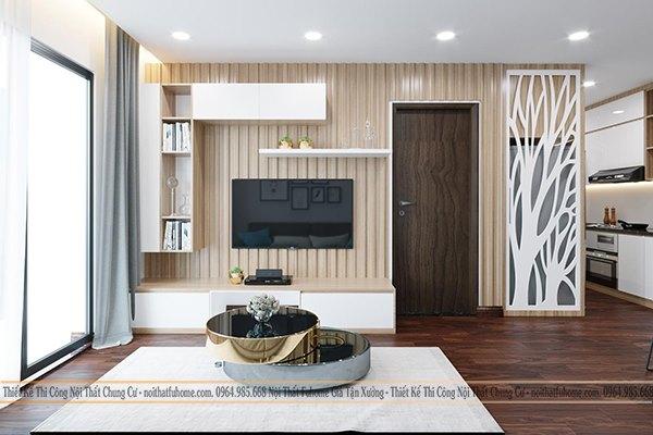 Phong cách thiết kế nội thất cho chung cư 65m2 hiện đại