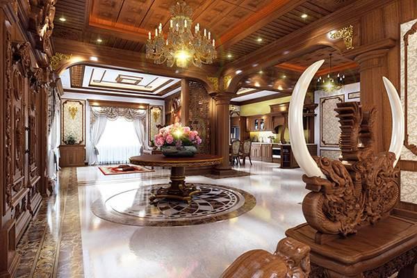 Phong cách thiết kế nội thất biệt thự cao cấp kiểu Pháp