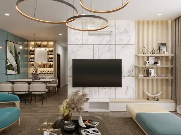 Hướng dẫn thiết kế nội thất chung cư 2 phòng ngủ
