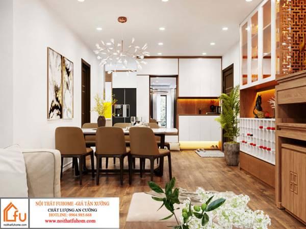 Nội thất của thiết kế nội thất theo phong cách hiện đại
