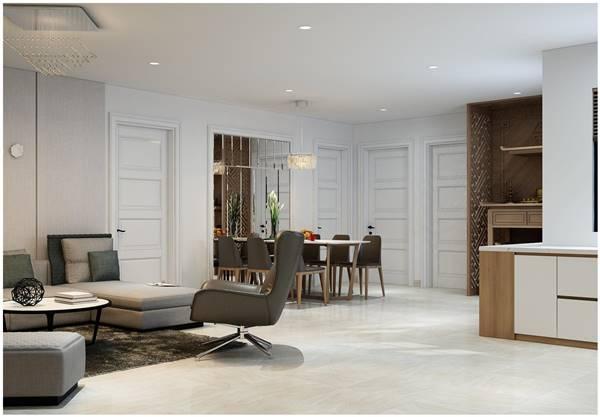 Thiết kế nội thất chung cư cho căn hộ chung cư theo phong cách tối giản